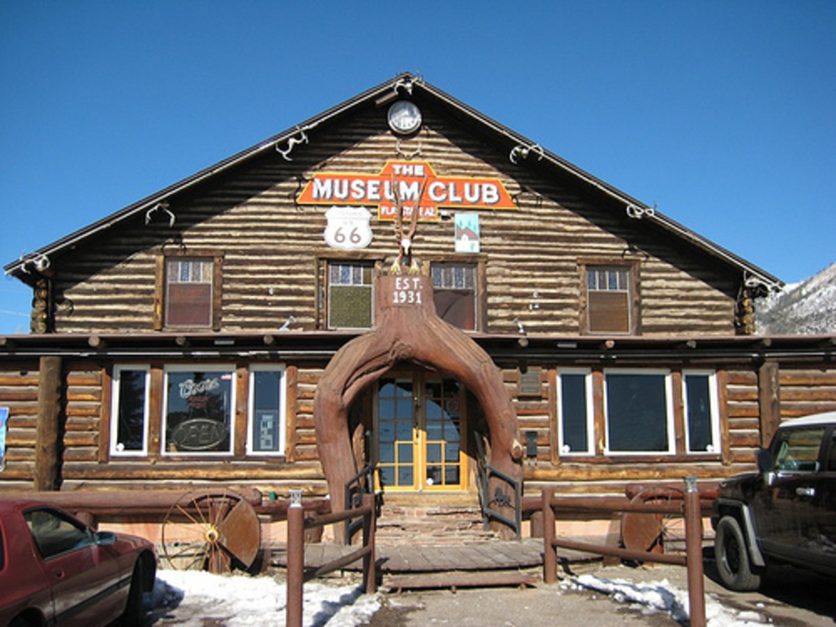 The historic Museum Club on Old Route 66 in Flagstaff