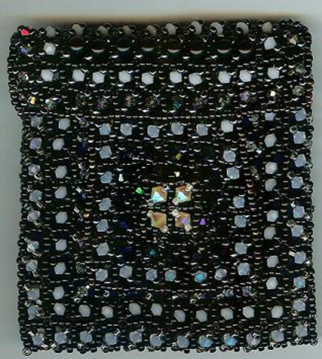How to make a beaded clutch purse