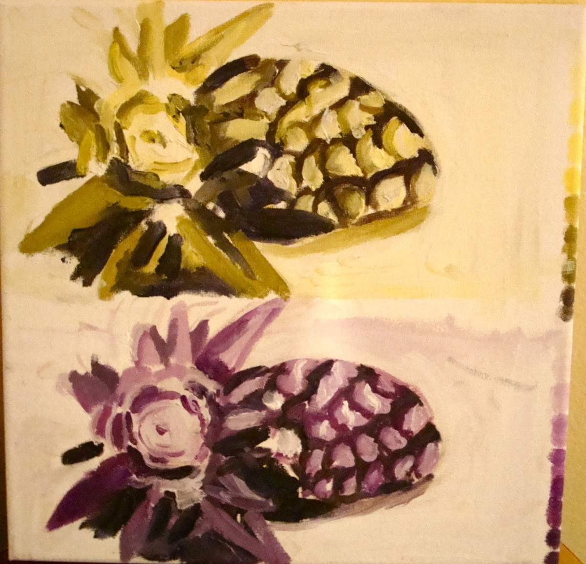 Yellow & Violet Pineapple