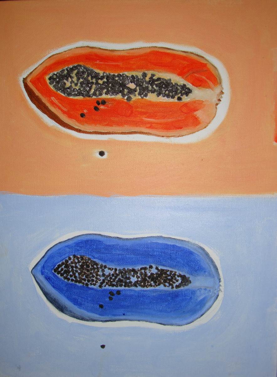 Orange & Blue Papaya