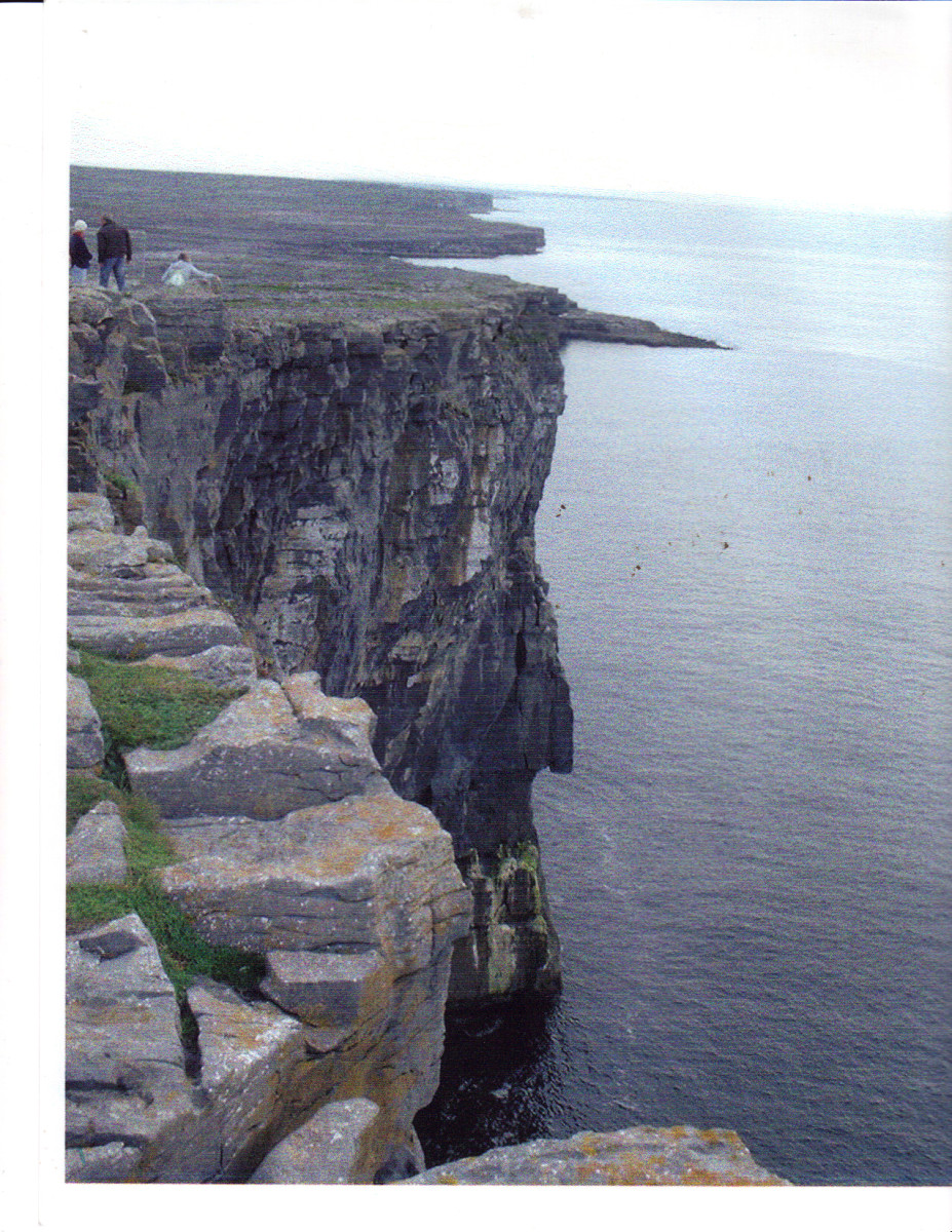 Cliffs of Aran Islands by R. Fleck