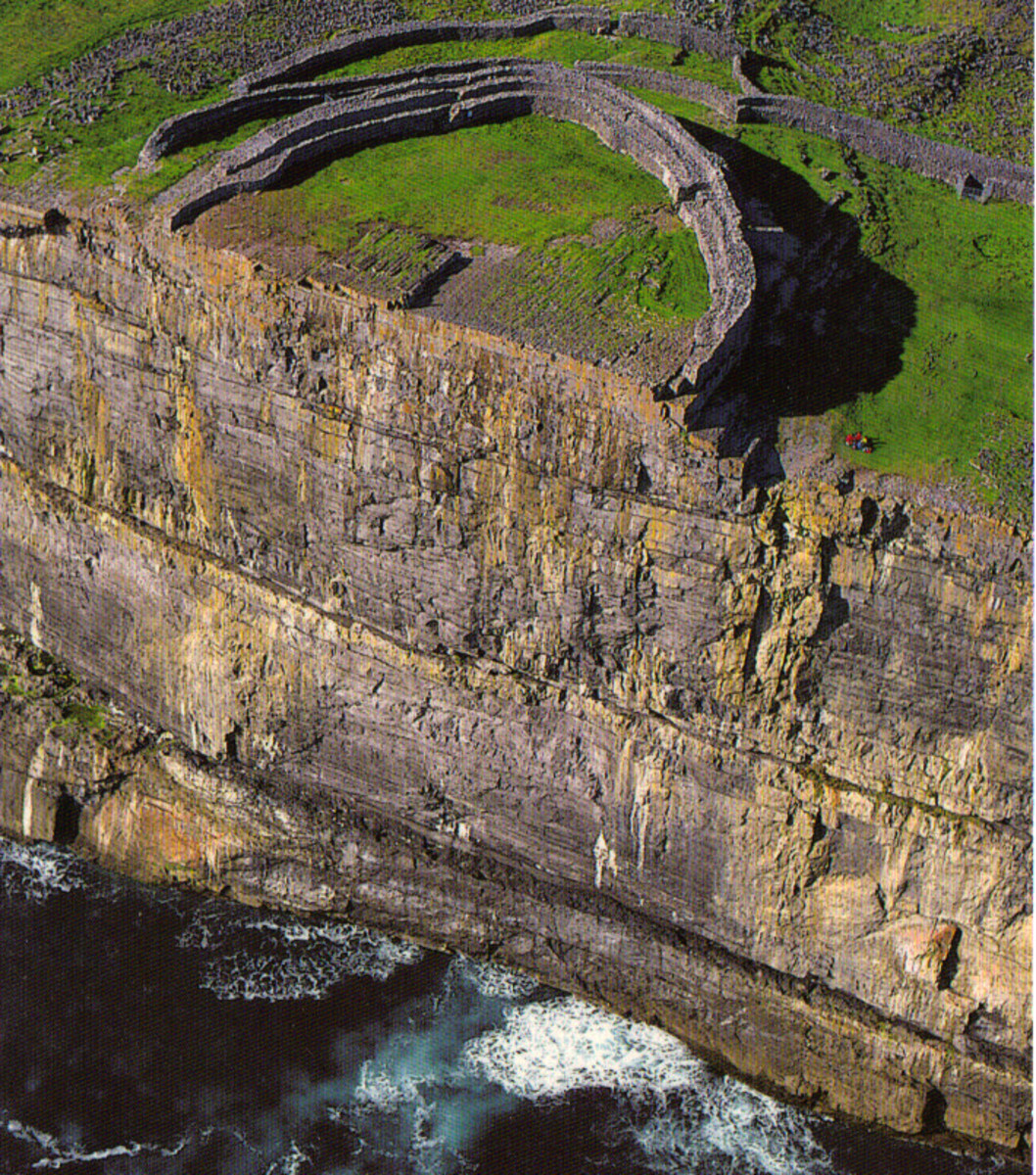 Aerial view of Dun Aengus Fort by Liam Blake