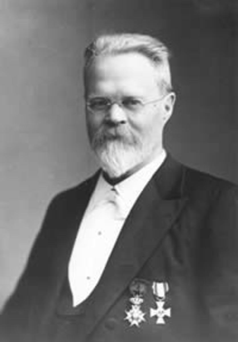 Nils Ekholm, 1913, the year of his appointment as Director of the Central Bureau of Meteorology.  Image courtesy Wikipedia.