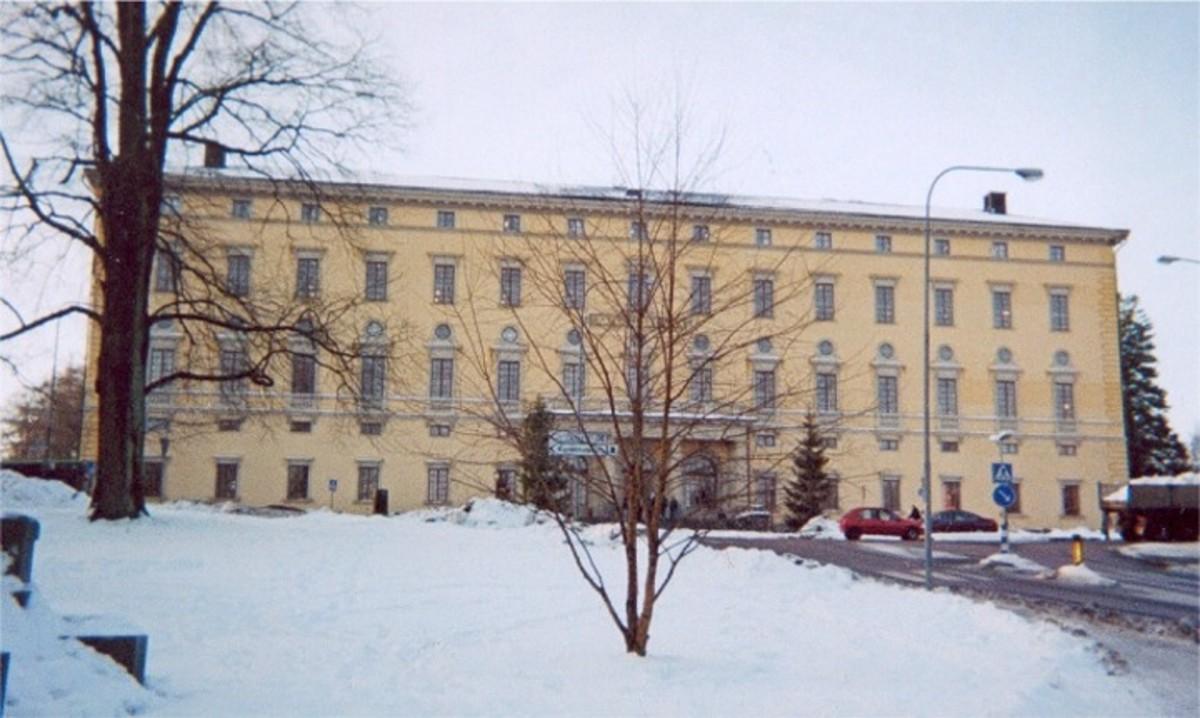 University of Uppsala library in winter.  Image courtesy Wikipedia Commons.