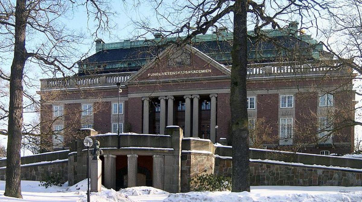 Royal Swedish Academy of Science.  Image courtesy of Hackspett & Wikimedia Commons.
