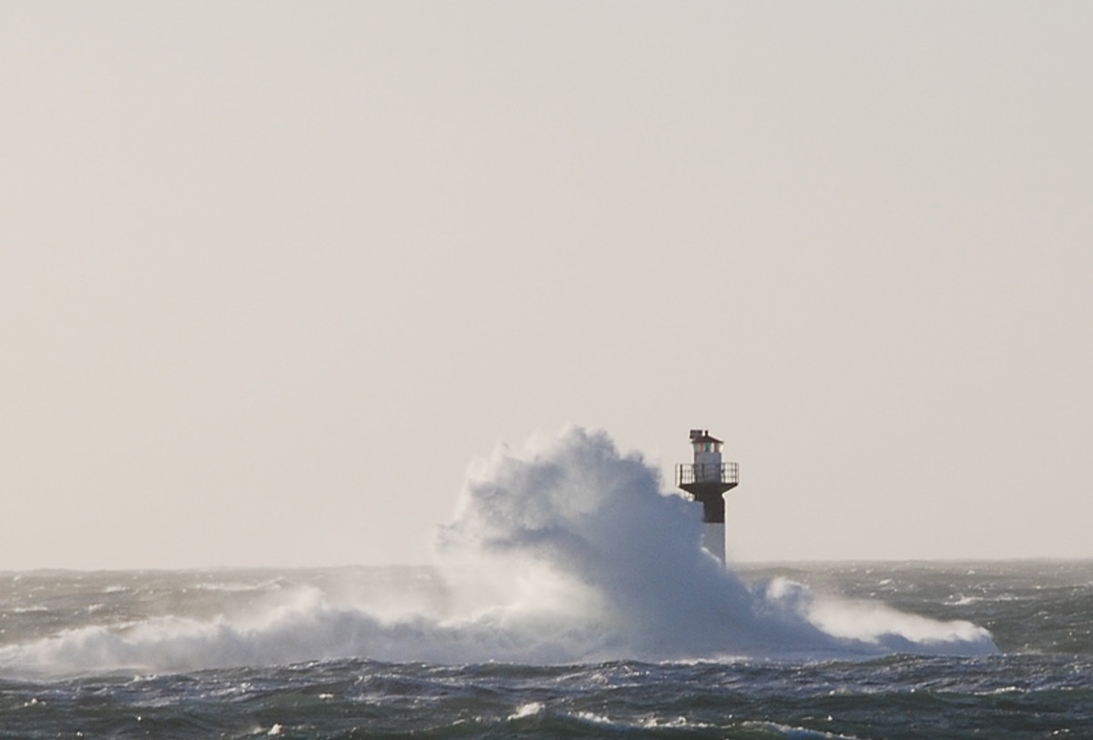 A storm on the Swedish coast.  Image courtesy Wikimedia Commons.