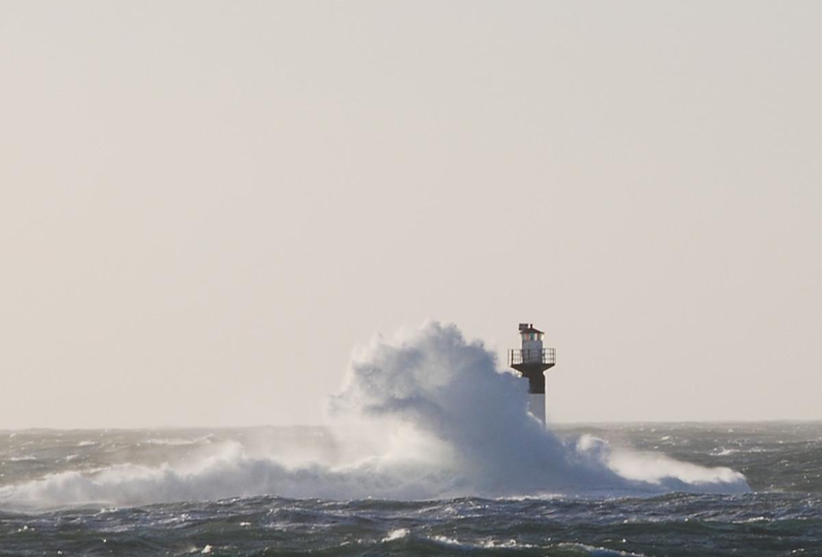 A storm on the Swedish coast.  Image courtesy Wikimedia Commons.