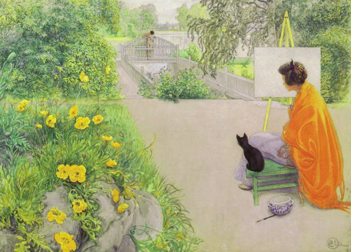 'The Bridge at the Harbour' by Carl Larsson, 1912. Courtesy of Wiki Commons.