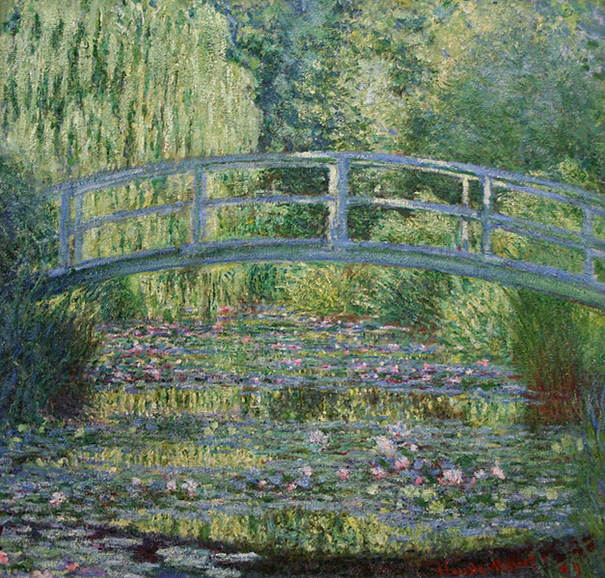 Claude Monet - Water Lilies and Japanese Bridge. Image coutesy of Wiki Commons