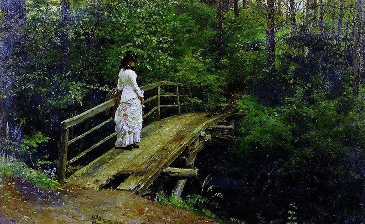 Bridge in Abramtsevo by Ilya Repin, 1879. Image courtesy of Wiki Commons