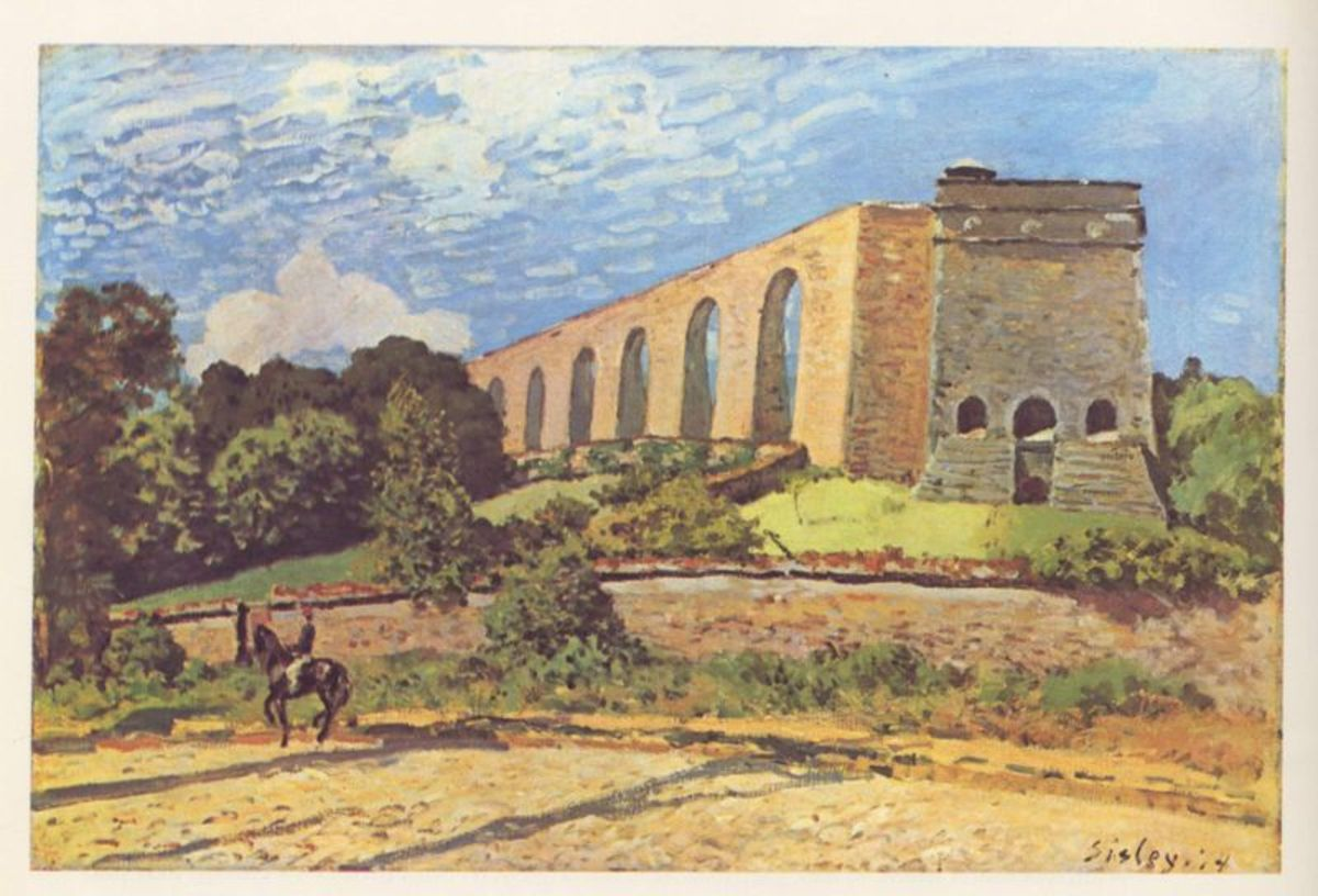 The Marly Aqueduct by Alfred Sisley, 1874. This painting is in the Toledo Museum of Art. Image courtesy of WikiCommons.