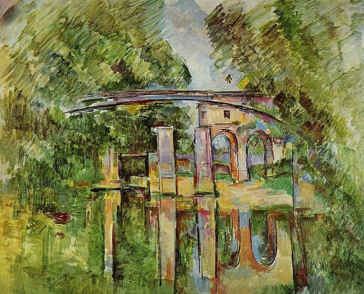 Paul Cezanne, Aqueduct and Lock. Image courtesy of Wiki Commons
