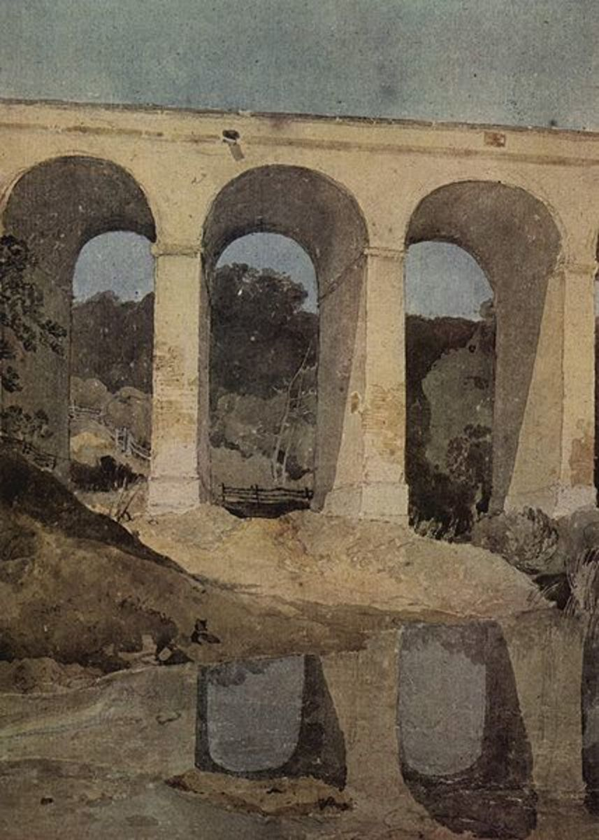 Chirk Aqueduct by John Sell Cotman, c. 1804. image courtesy of Wiki Commons
