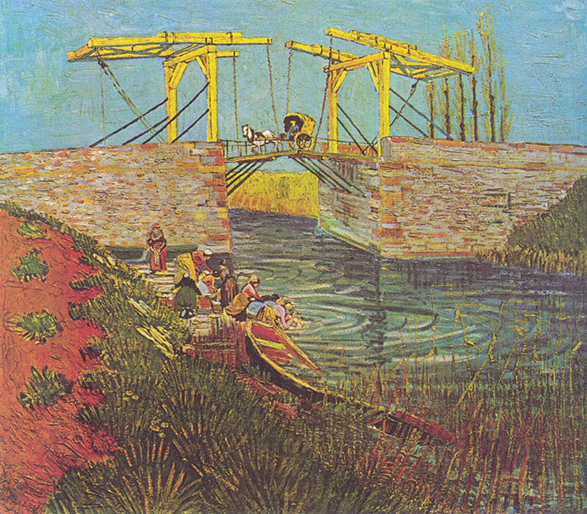 Le Pont de Langlois by Vincent Van Gogh, 1888. Image courtesy of Wiki Commons