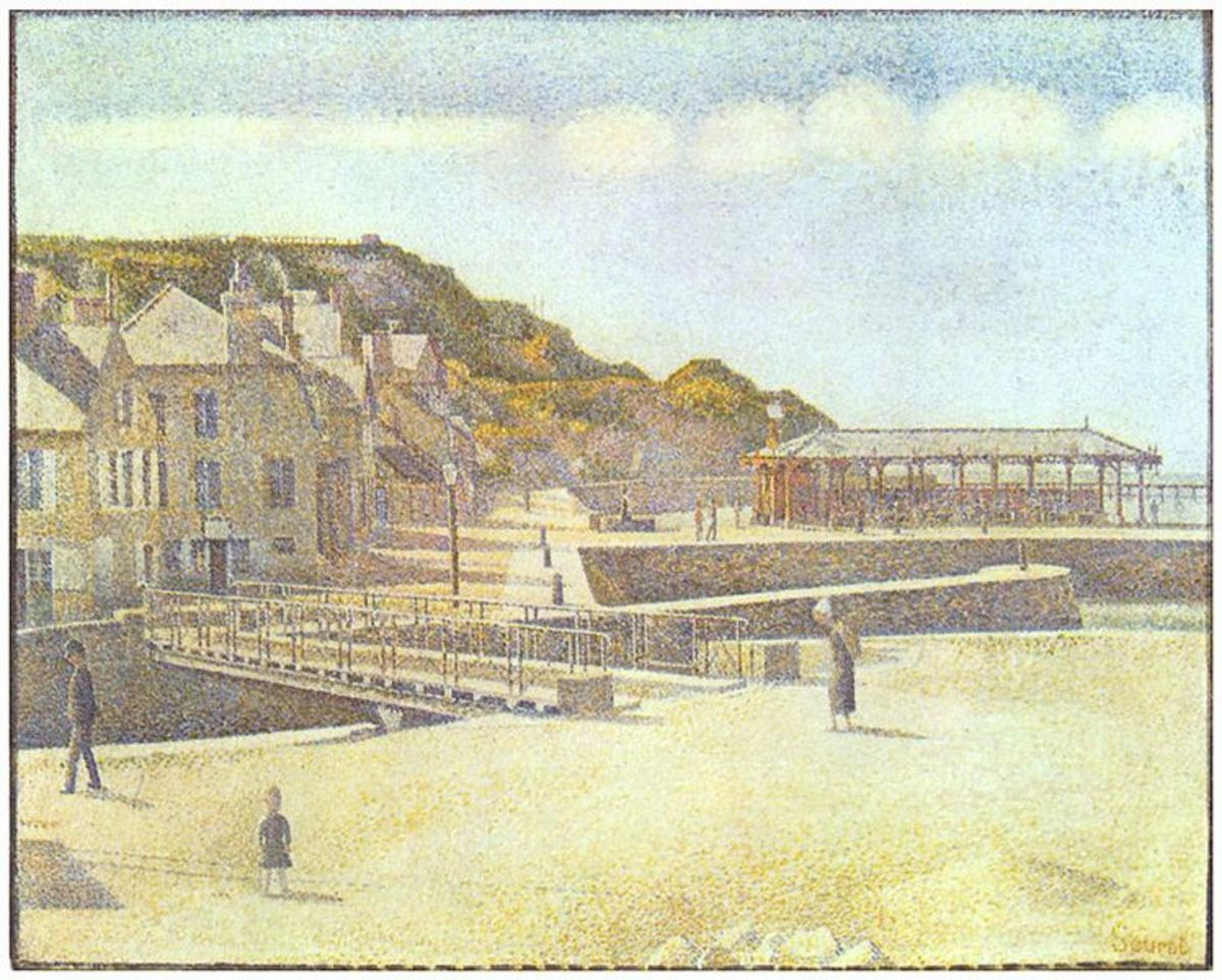 Bridge and Harbour, Port-en-Bessin ny Georges Seurat, 1888. Image courtesy of Wiki Commons