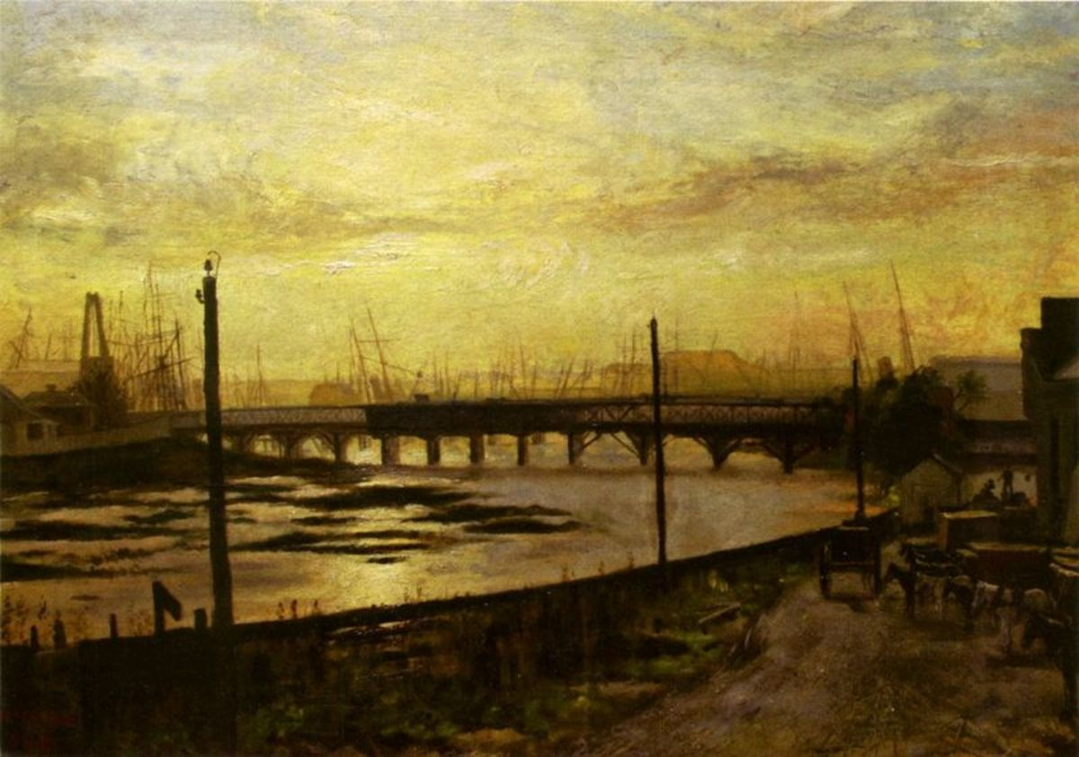 Falls Bridge Melbourne by Frederick McCubbin, 1882. Image courtesy of Wiki Commons