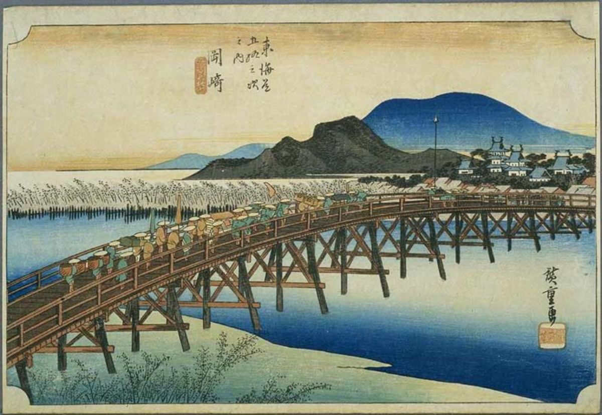 The Fifty-three Stations of the Tokaido by Hiroshige. Image courtesy of Wiki Commons