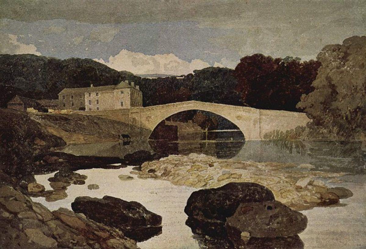 Greta Bridge by John Sell Cotman, c. 1805. Image Courtesy of Wiki Commons