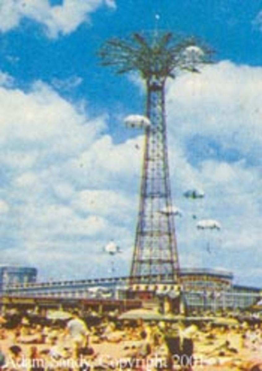 The Famous Parachute Jump in Coney Islands Amusement Park