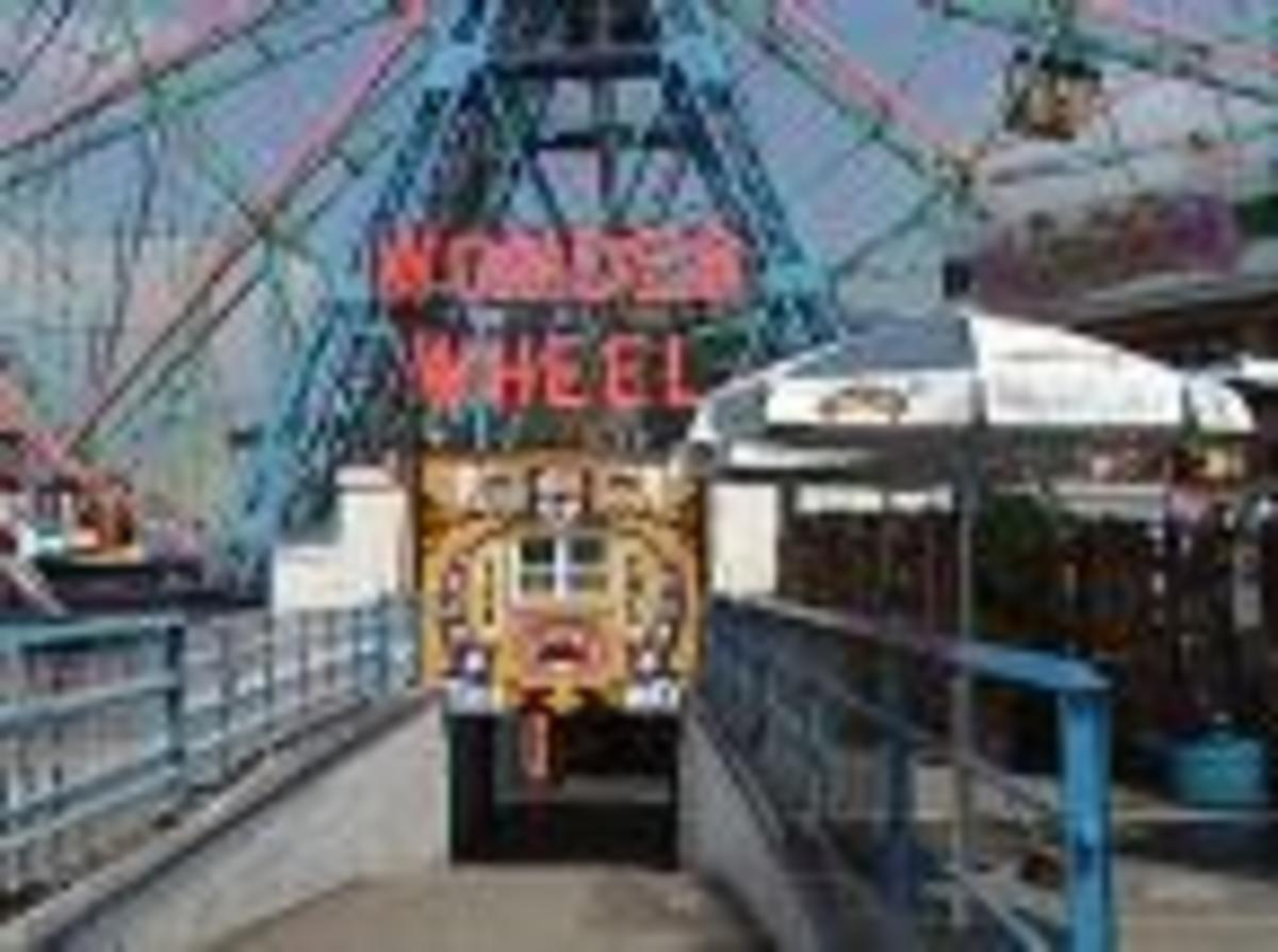 Wonder Wheel Entrance, I used to tell all  the visitors it was the Ninth wonder of the world.