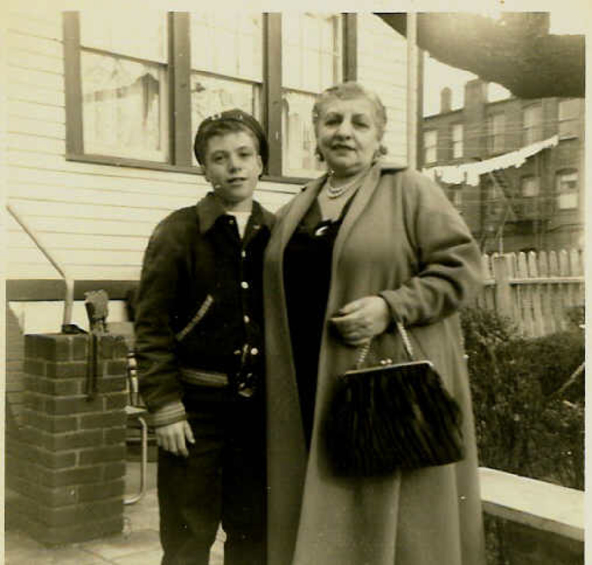 My Grandmother and Me in Front of her House on West 19th Street in Coney Island, Off Mermaid Ave.