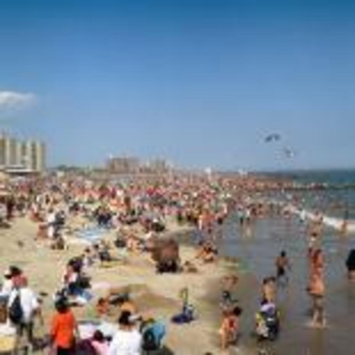 Coney Island Beach, at the peak of the season.