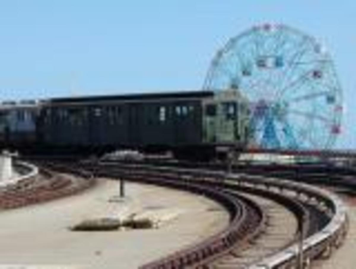 Arriving in Coney Island on the SubWay