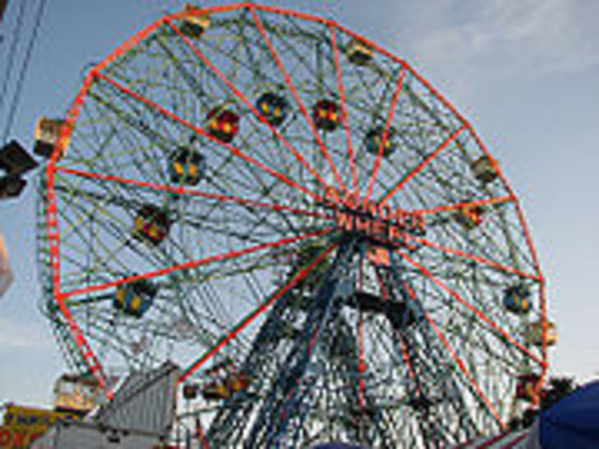 The Wonder Wheel, which still operates today in Deno's Kiddy Amusment Park, Originally was named Astro Park.