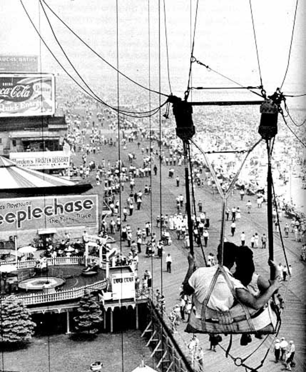 Broadwalk as its seen from the Parachute Jump  as you were lifted and dropped. Still stands today, but at the moment closed for a rebuild.