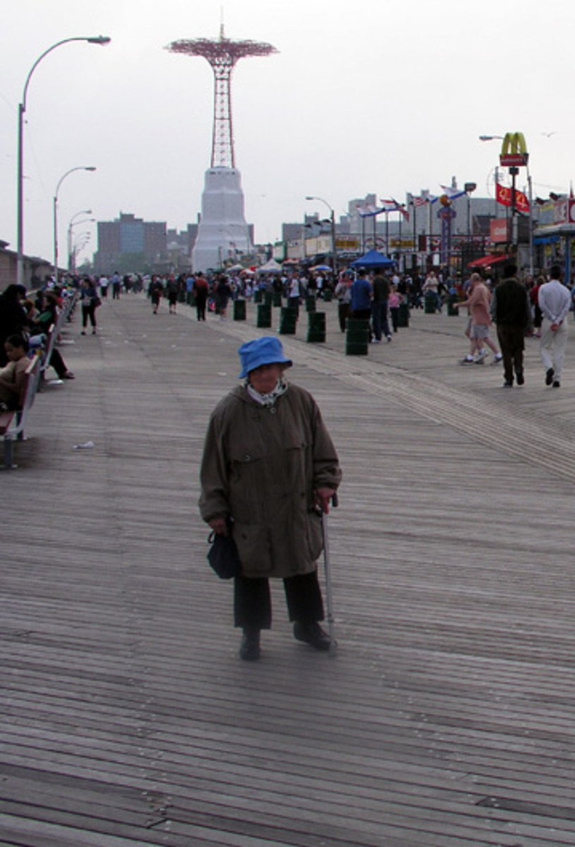 The Famous Boardwalk in Coney Island,New York