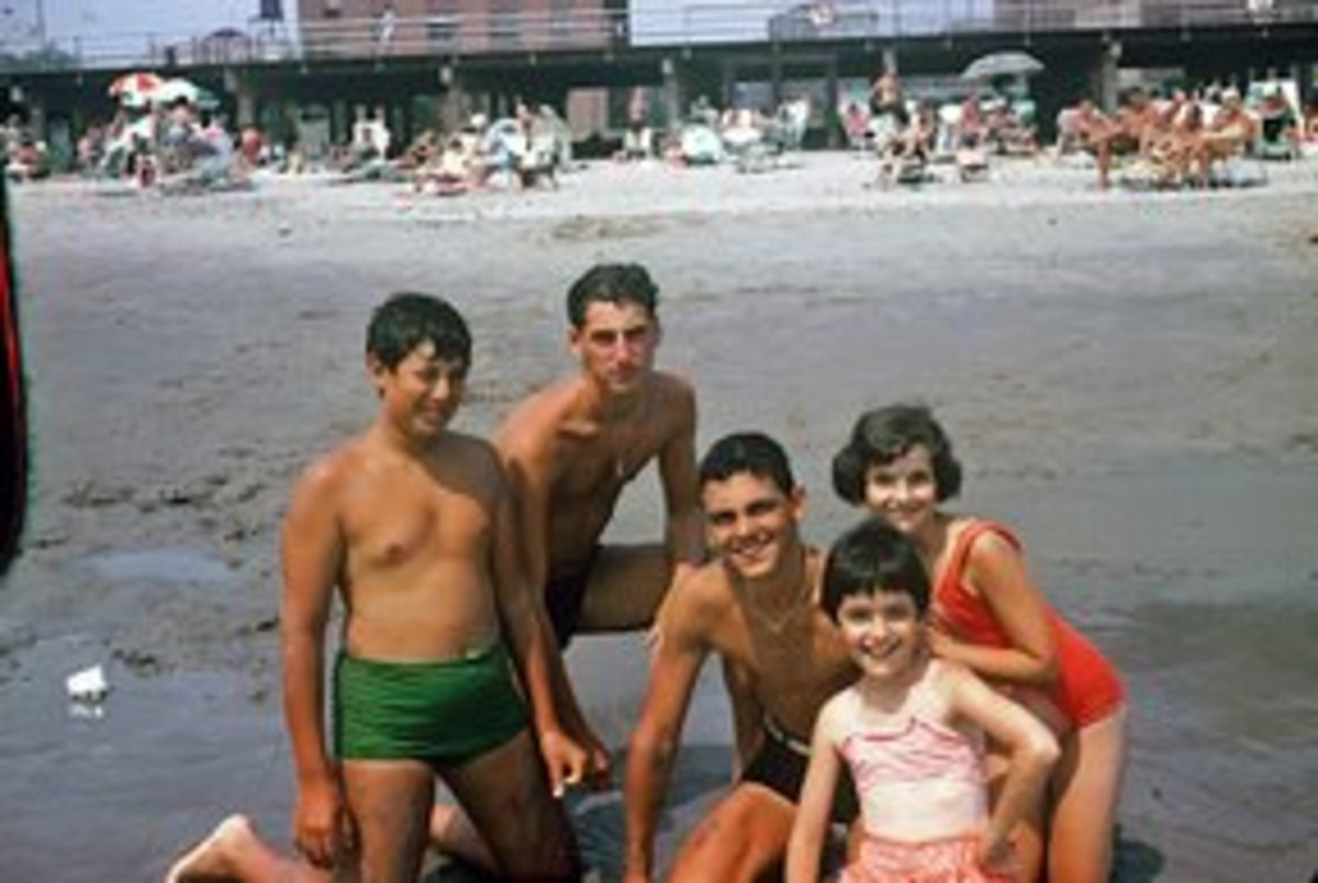 Having fun on Coney Island Beach