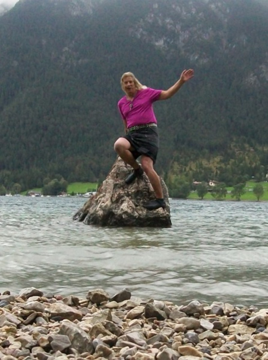 Loreley in Mini Skirt at Achensee