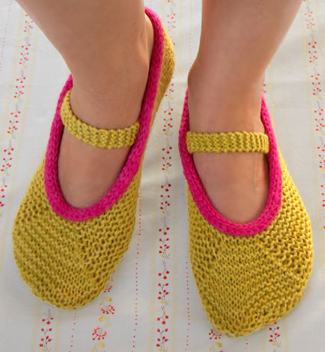How to Make Knitted Slippers.