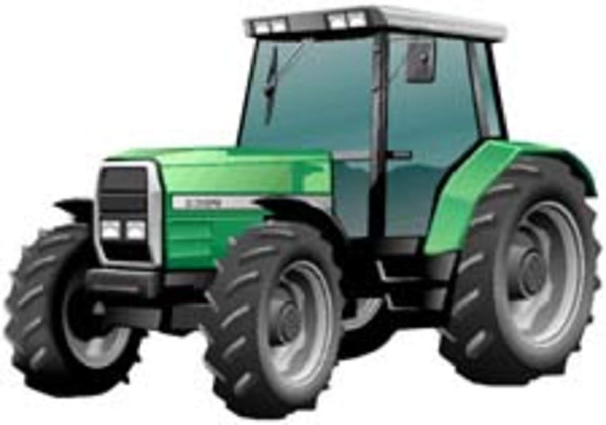A typical farm tractor.