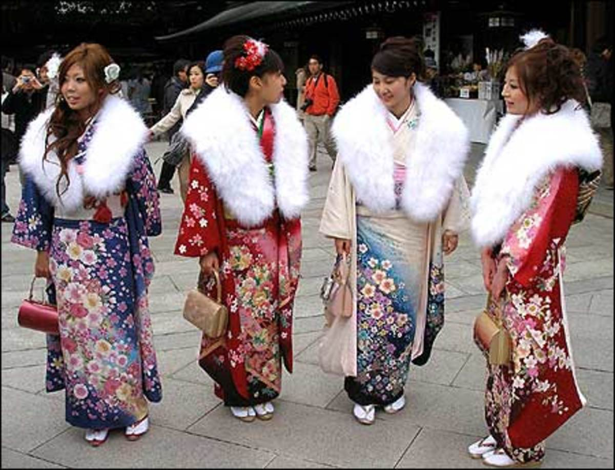 Women Gather to Celebrate Seijin No Hi.