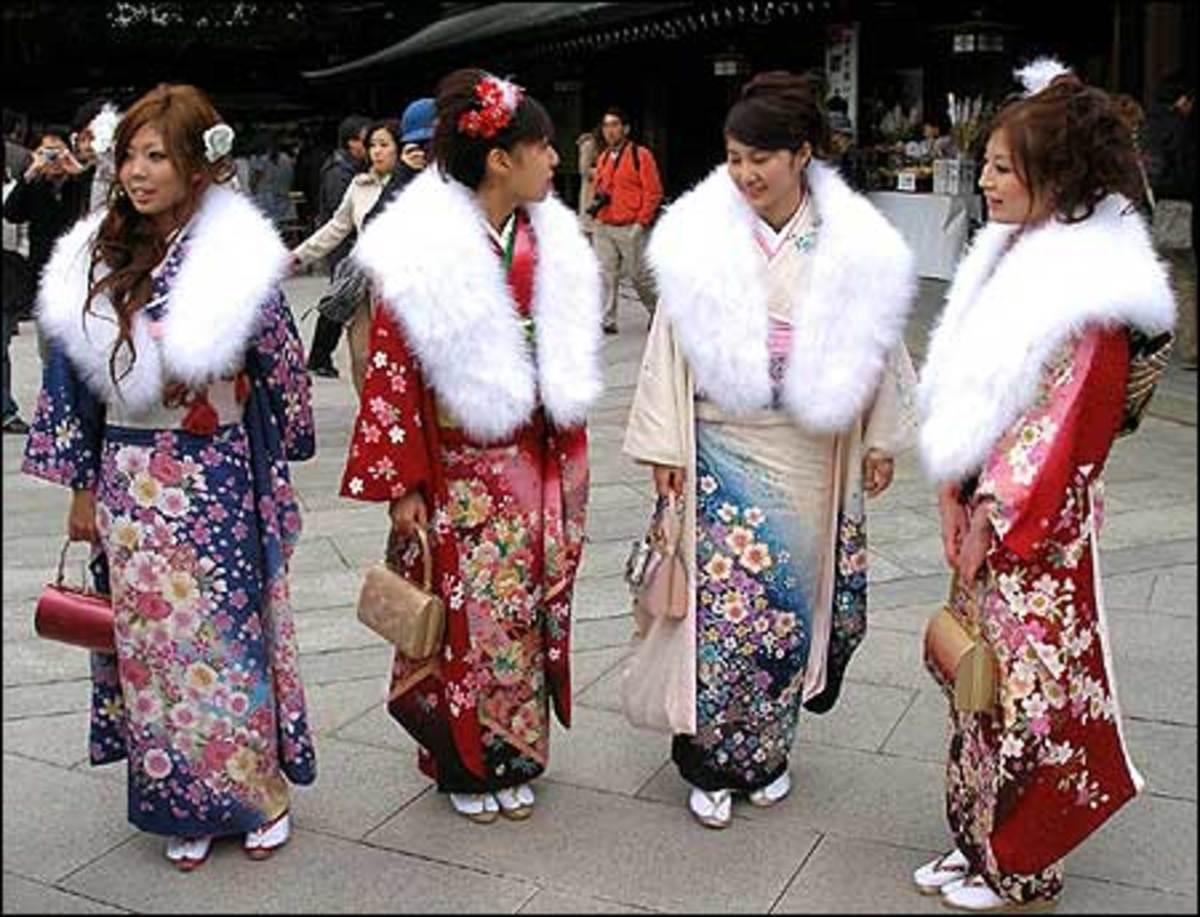 Women Gather to Celebrate Seijin No Hi.