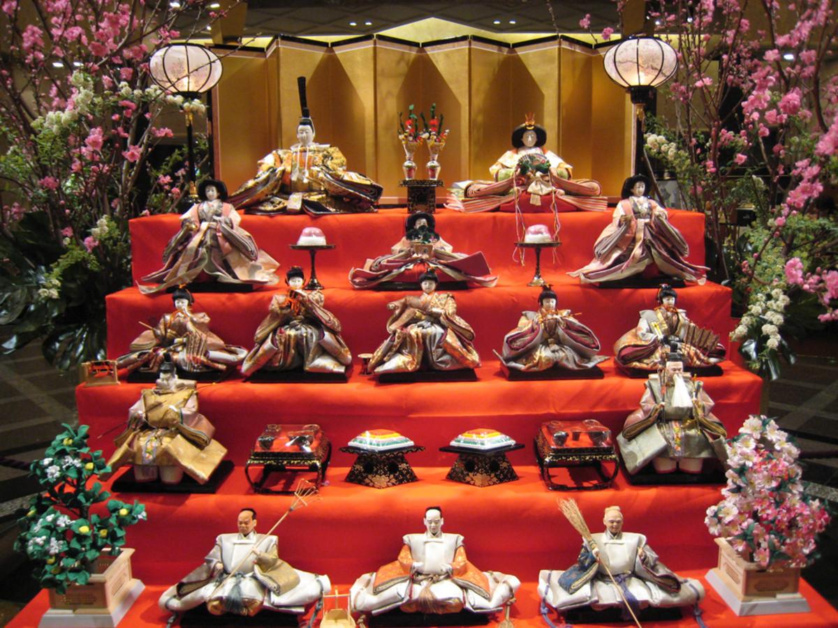 Doll Display for Hina Matsuri