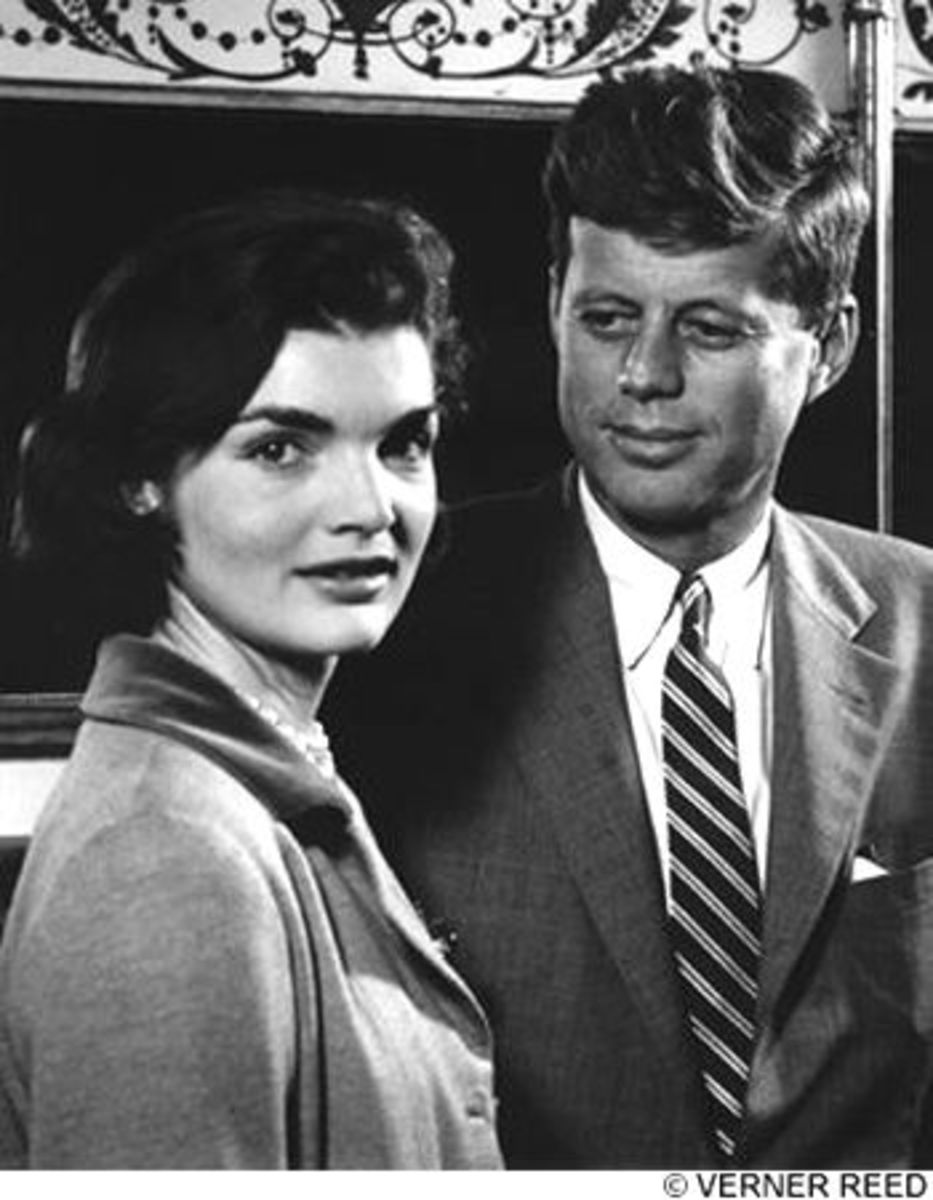 Stunning Jackie Kennedy with John F. Kennedy - Photo by Verner Reed