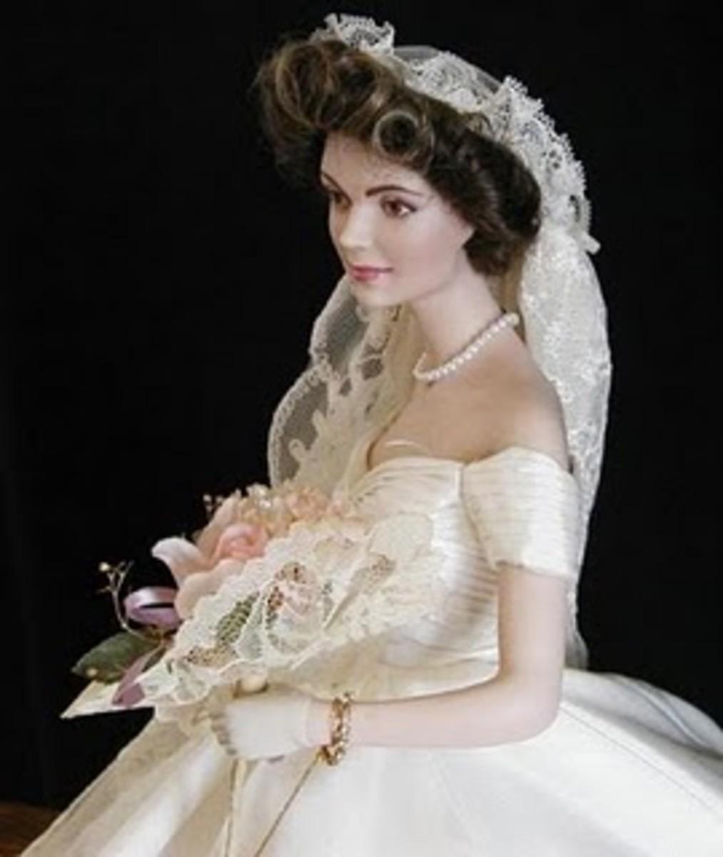 Jackie Kennedy Bridal Barbie by Franklin Mint