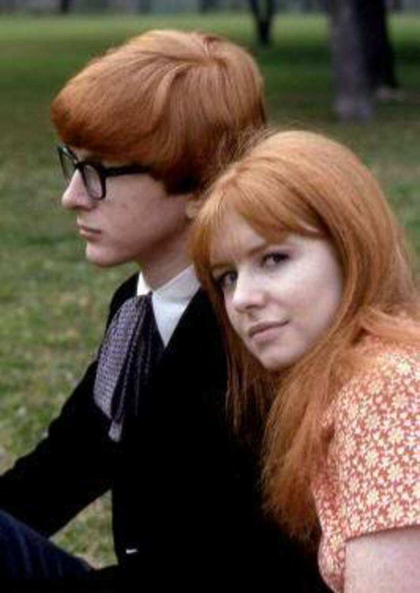 Peter Asher with his sister Jane Asher