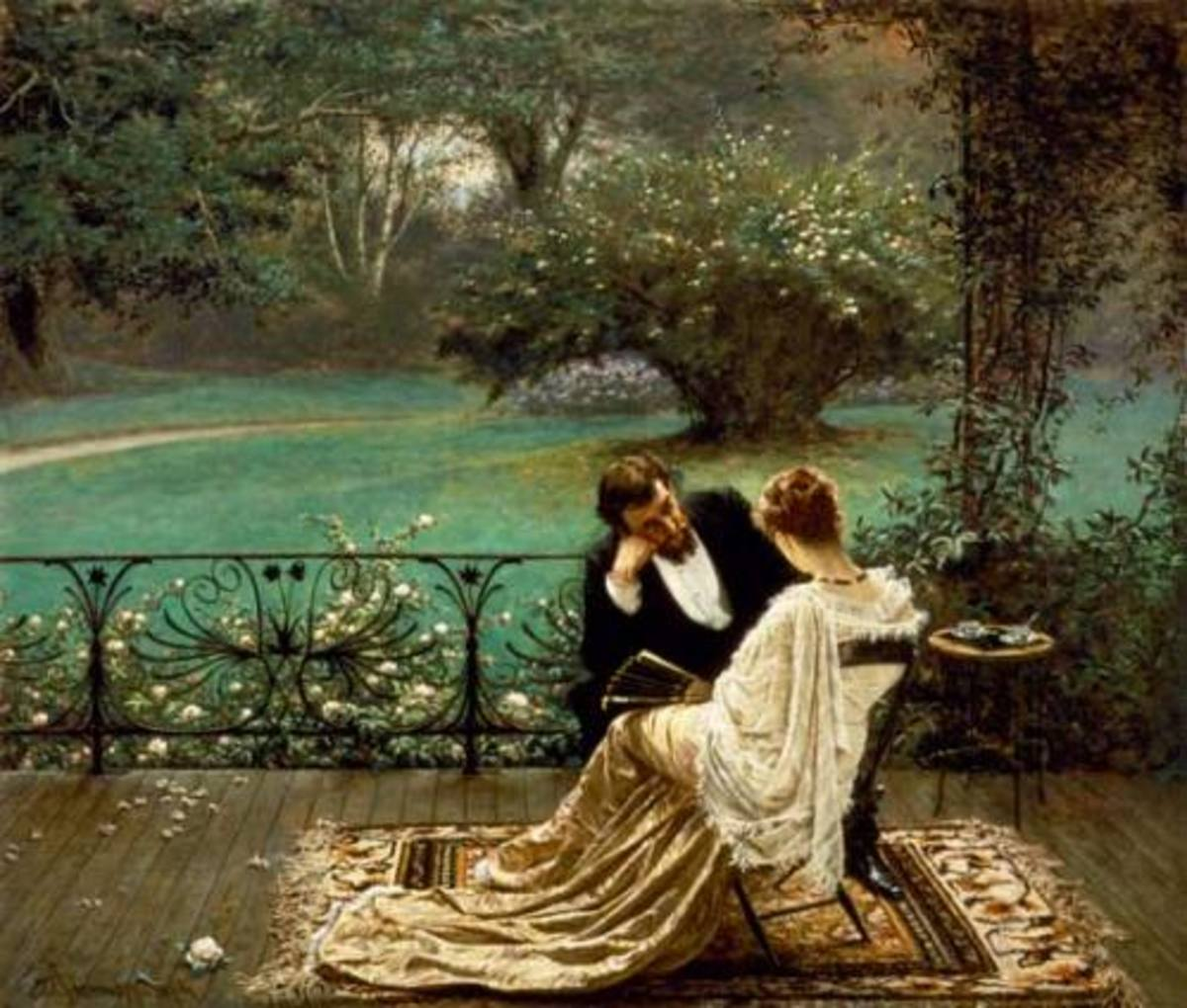 Romantic Scene of a couple - perfect for Valentine's Day