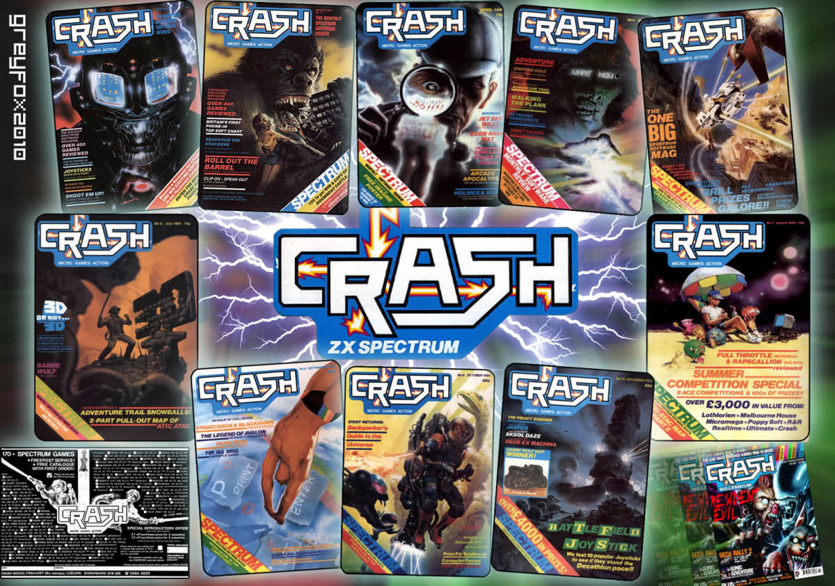 I can remember each front cover of every copy of Crash Magazine...