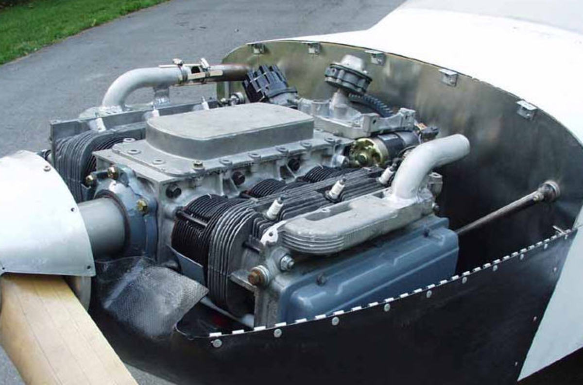 Corvair engine in aircraft
