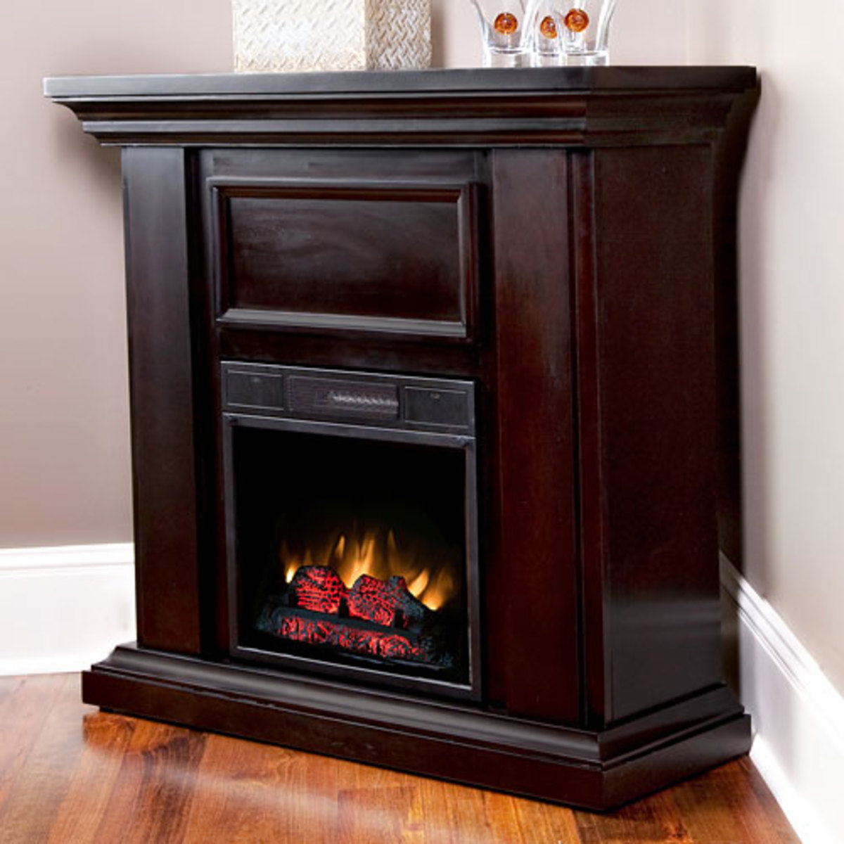 Hastings Espresso Wall/Corner Electric Fireplace