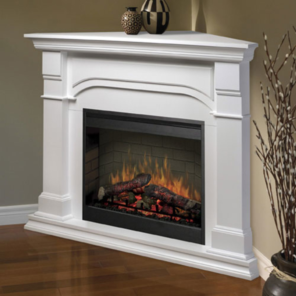 Buy an Electric Fireplace - Make it a Corner Fireplace