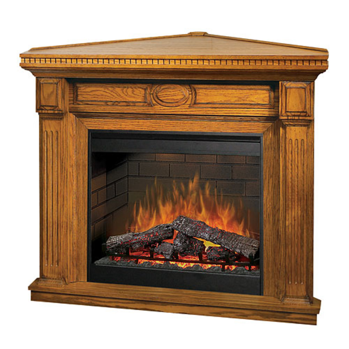 Dimplex Stratford Medium Oak Corner Fireplace