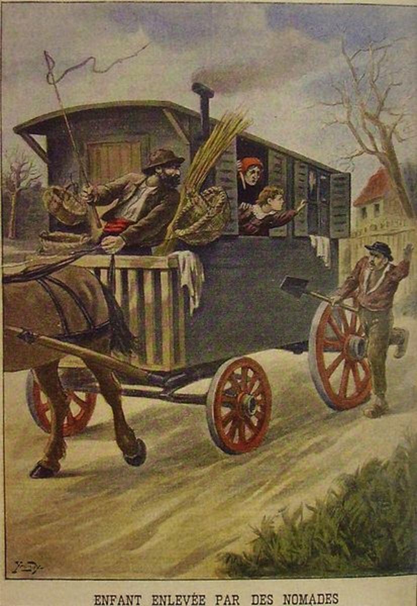 Painting of children stolen by gypsies, a widespread legend.
