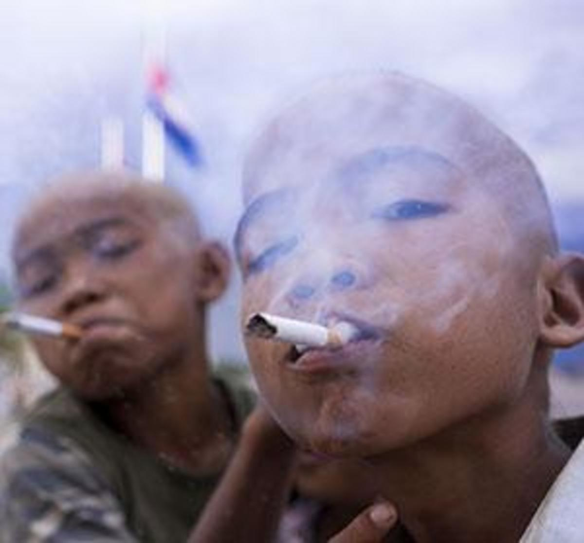 Children Smoking Nyaope
