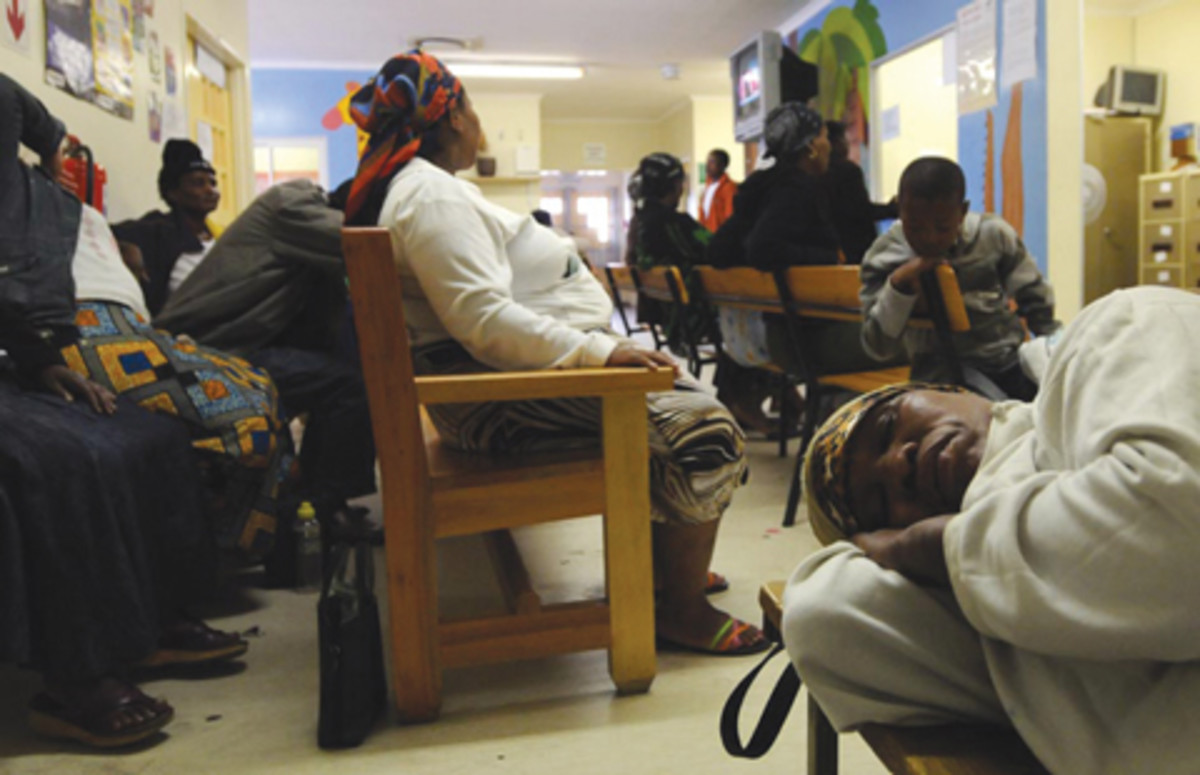In Waiting in one of the local clinics- Post apartheid South africa
