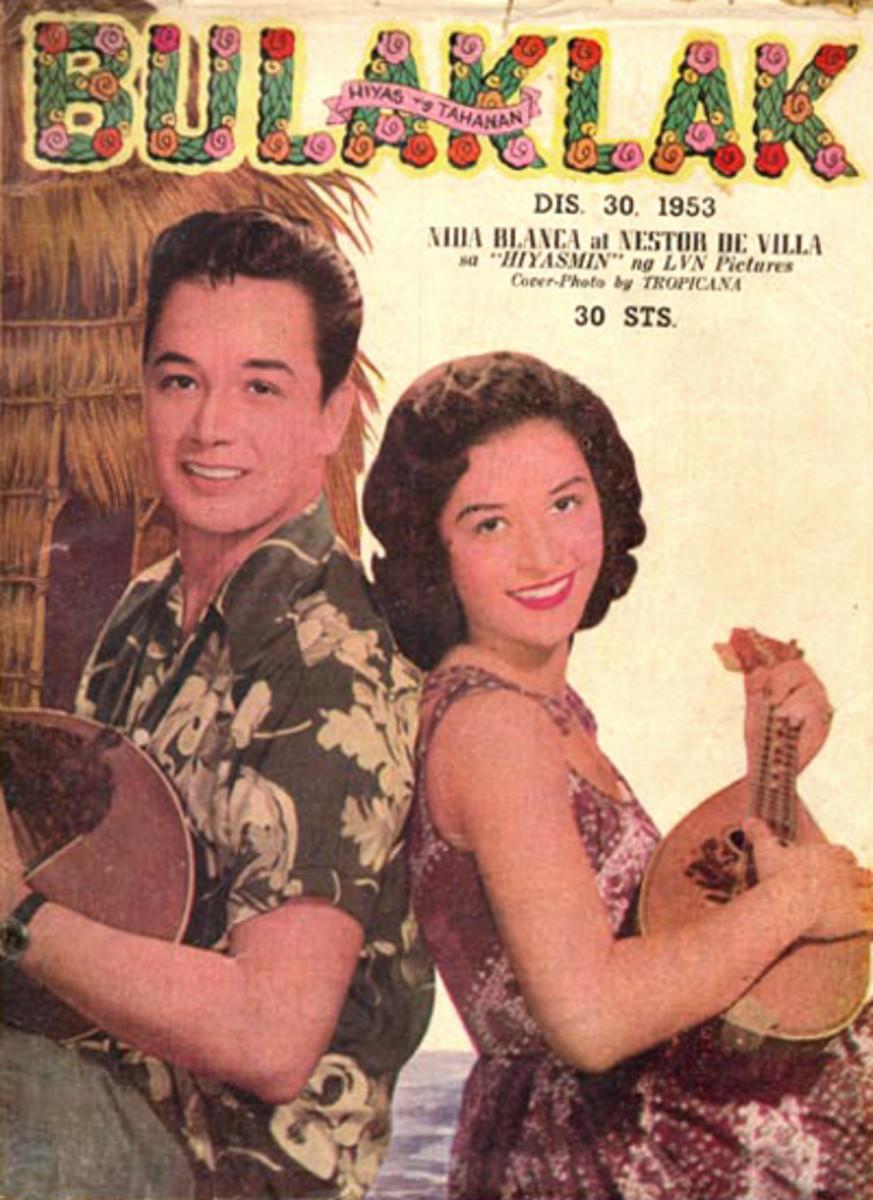 Bulaklak magazine, 1953, Nida Blanca and Nestor de Villa